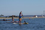 Port Townsend, Rat Island Regatta, rowers, kayakers, standup paddlers, racing, Sam Cunard; Alison Cunard, SUP, Sound Rowers, Rat Island Rowing Club, Puget Sound, Olympic Peninsula, Washington State, water sports, rowing, kayaking, competition,