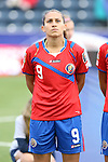 24 October 2014: Carolina Venegas (CRC). The Costa Rica Women's National Team played the Trinidad & Tobago Women's National Team at PPL Park in Chester, Pennsylvania in a 2014 CONCACAF Women's Championship semifinal game, which serves as a qualifying tournament for the 2015 FIFA Women's World Cup in Canada. Costa Rica advanced to the championship game, and qualified for next year's Women's World Cup, by winning the penalty shootout 3-0 after the game ended in a 1-1 tie after double overtime.