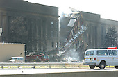 Washington, DC - September 11, 2001 -- Damage to the Pentagon following the terrorist attack in Washington, D.C. on Tuesday, September 11, 2001..Credit: Ron Sachs / CNP