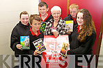 READ ALL ABOUT IT: Taking part in the MS Readathon are students from Mean Scoil an Leith Truigh, Castlegregory Jack Walsh, Nora Flynn, Adina Greaney, Katie Raftery, James Kelliher and Brandon Begley.