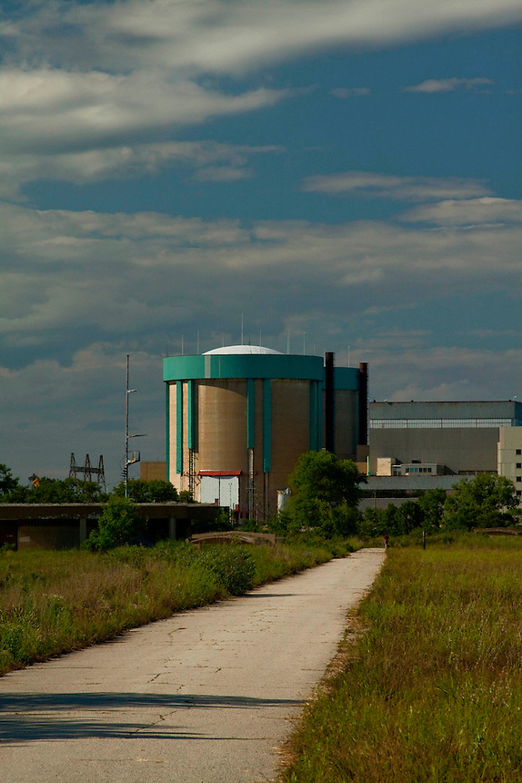 Images of the Zion, Illinois nuclear power plant which is in the process of being decommissioned.
