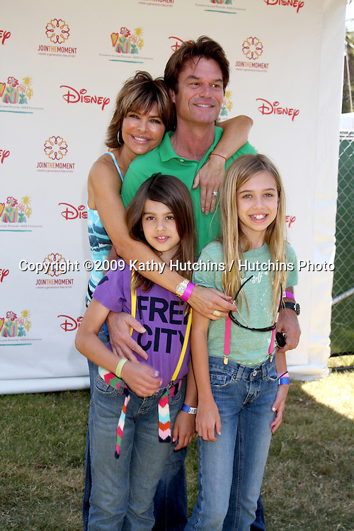 "Lisa Rinna, Harry Hamlin, and daughters  arriving at the ""A Time For Heroes Celebrity Carnival"" benefiting the Elizabeth Glaser Pediatrics AIDS Foundation at the Wadsworth Theater Grounds in Westwood , CA on June 7, 2009 .©2009 Kathy Hutchins / Hutchins Photo.."