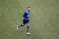 Max Müller of Wycombe Wanderers warms up before the Sky Bet League 2 match between Notts County and Wycombe Wanderers at Meadow Lane, Nottingham, England on 10 December 2016. Photo by Andy Rowland.