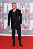 Luke Evans<br /> arriving for the BRIT Awards 2019 at the O2 Arena, London<br /> <br /> ©Ash Knotek  D3482  20/02/2019<br /> <br /> *images for editorial use only*