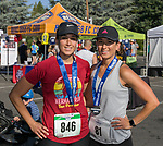 Twin sisters Ayse Caglar and Deniz Dogruer during the 51st Annual Journal Jog in  Reno on Sunday, Sept. 8, 2019.