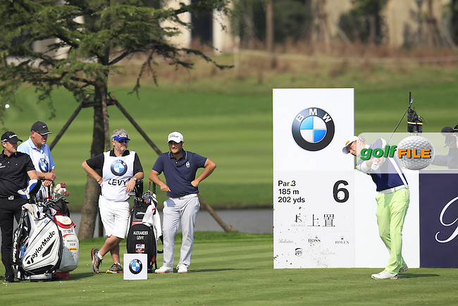 Marcel Siem (GER) tees off the 6th tee during Sunday's Final Round of the 2014 BMW Masters held at Lake Malaren, Shanghai, China. 2nd November 2014.<br /> Picture: Eoin Clarke www.golffile.ie