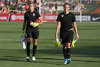 Boyds, MD. - Saturday, June 24 2017:  Stephanie Labb&eacute;, DiDi Haracic during a regular season National Women's Soccer League (NWSL) match between the Washington Spirit and the Portland Thorns FC at Maureen Hendricks Field, Maryland SoccerPlex.<br />  The Washington Spirit defeated the Portland Thorns FC 1-0.