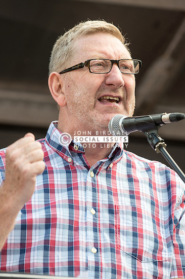 Len McCluskey, General Secretary of UNITE the Union, People's Assembly demonstration against Austerity, London, 21st June 2014