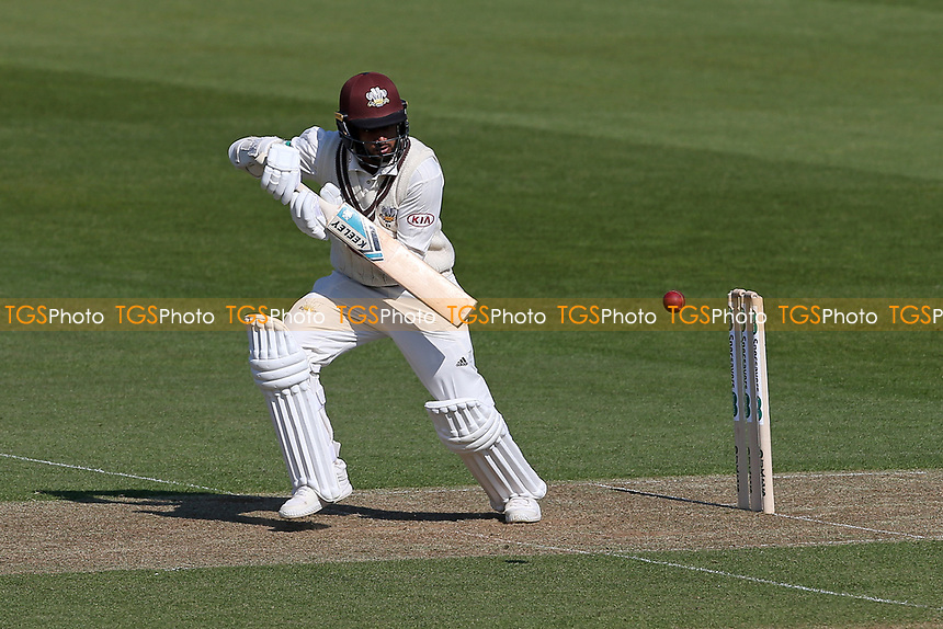 Ryan Patel in batting action for Surrey during Surrey CCC vs Essex CCC, Specsavers County Championship Division 1 Cricket at the Kia Oval on 11th April 2019