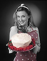 A retro 40's Quick Red Velvet Chocolate Cake presented by Shannon Buonsanti. Portfolio only