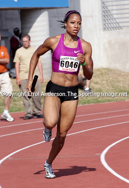 Natasha Hastings at the 84th. Clyde Littlefield Texas Relays on Saturday, April 9th. 2011. Photo by Errol Anderson