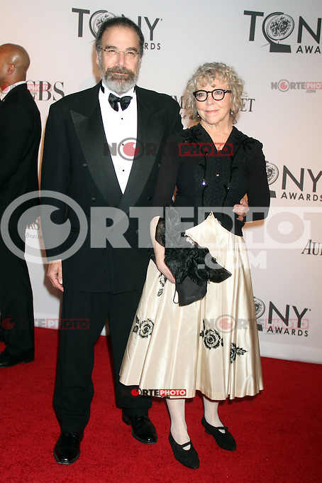 Mandy Patinkin and Kathryn Grody at the 66th Annual Tony Awards at The Beacon Theatre on June 10, 2012 in New York City. Credit: RW/MediaPunch Inc.