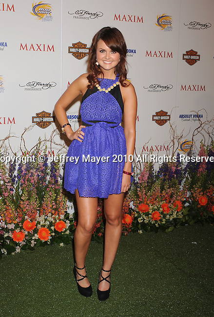 LOS ANGELES, CA. - May 19: Julie Meise arrives at the 11th Annual MAXIM HOT 100 Party at Paramount Studios on May 19, 2010 in Los Angeles, California.