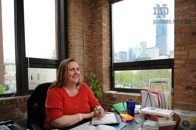 Michelle Sexton-Dorvil in her office in the UIC business school...Photo by Matt Cashore/University of Notre Dame