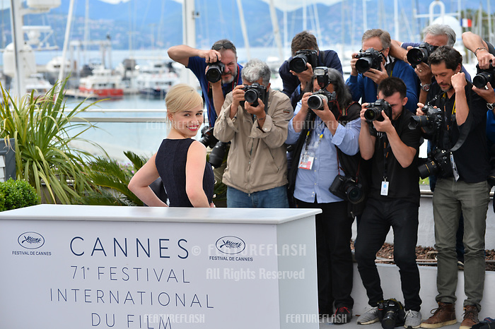 Emilia Clarke at the photocall for &quot;Solo: A Star Wars Story&quot; at the 71st Festival de Cannes, Cannes, France 15 May 2018<br /> Picture: Paul Smith/Featureflash/SilverHub 0208 004 5359 sales@silverhubmedia.com