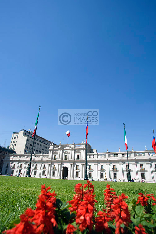 PALACIO DE LA MONEDA PRESIDENTIAL PALACE PLAZA DE LA CONSTITUCION  SANTIAGO CHILE