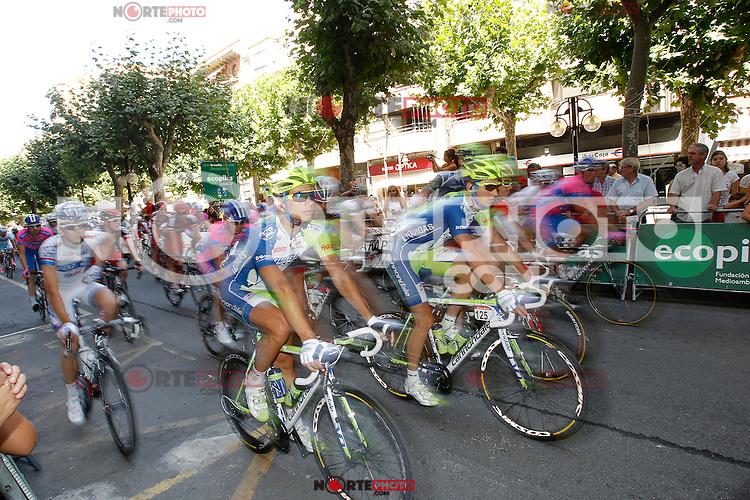 The gruop during the stage of La Vuelta 2012 between Logroño and Logroño.August 22,2012. (ALTERPHOTOS/Acero) /NortePhoto.com<br /> <br /> **SOLO*VENTA*EN*MEXICO**<br /> **CREDITO*OBLIGATORIO**<br /> *No*Venta*A*Terceros*<br /> *No*Sale*So*third*<br /> *** No Se Permite Hacer Archivo**<br /> *No*Sale*So*third*