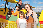 Megan and Lisa Quinn Asdee watching their mother Nuala Quinn getting straped in by David Burton before taking to the skies on Sunday at the Air Show in Ardfert.........