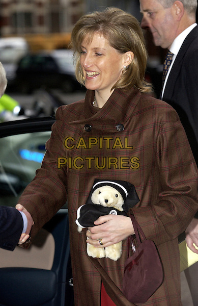 HRH SOPHIE COUNTESS OF WESSEX.in her role as Grand President of the  St. John's Ambulance Service, visited the headquarters in London, EC1, .January 18th 2005..half length royal .Ref: DH.www.capitalpictures.com.sales@capitalpictures.com.©David Hitchens/Capital Pictures .