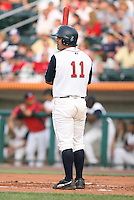 Aaron Reza of the Lowell Spinners, Class-A affiliate of the Boston Red Sox, during the New York-Penn League season.  Photo by:  Mike Janes/Four Seam Images