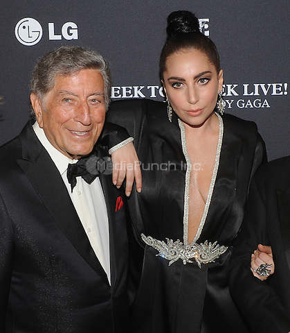 New York,NY-JULY 28: Tony Bennett, Lady Gaga attend 'Cheek To Cheek' taping at at Jazz at Lincoln Center on July 28, 2014 in New York City on July 27 , 2014.  Credit: John Palmer/MediaPunch