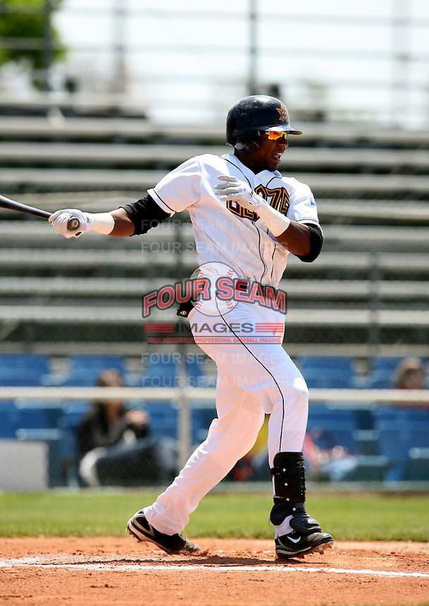 April 20, 2008:  Texas Rangers prospect Julio Borbon playing with the  Bakersfield Blaze against the Lancaster Jethawks.  Photo by:  Bill Mitchell/Four Seam Images