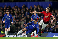 Nemanja Matic of Manchester United fouls Chelsea's Eden Hazard during Chelsea vs Manchester United, Emirates FA Cup Football at Stamford Bridge on 18th February 2019