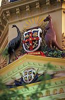 Océanie/Australie/South Australia/Australie Méridionale/Adelaïde: Emblème de l'Australie (émeu et kangourou) dans Rundle Mall