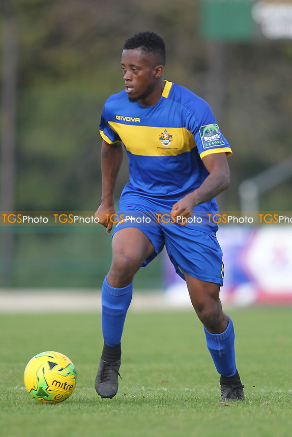 Khadean Campbell of Romford during Romford vs Coggeshall Town, Bostik League Division 1 North Football at Rookery Hill on 13th October 2018