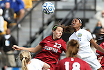 04 December 2011: Duke's Natasha Anasi (right) and Stanford's Kendall Romine (22). The Stanford University Cardinal defeated the Duke University Blue Devils 1-0 at KSU Soccer Stadium in Kennesaw, Georgia in the NCAA Division I Women's Soccer College Cup Final.