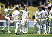 1st December 2017, Basin Reserve, Wellington, New Zealand; International Test Cricket, Day 1, New Zealand versus West Indies;  Niel Wagner celebrates the wicket of Hope