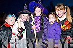 Family fun: Michael and Chelsea Gallagher with Clodagh O'Sullivan, Ava Grimes and Erin Doran, all from Listowel and taking part in last Friday evening's Halloween Parade in Listowel.   Copyright Kerry's Eye 2008