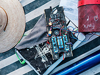 Computer parts from the North Seattle College team rocket at the Spaceport America Cup near the town of Truth or Consequences, New Mexico, Friday, June 23, 2017. The International Intercollegiate Rocket Engineering Competition hosted over 110 teams from colleges and universities in eleven countries. Students launched solid, liquid, and hybrid rockets to target altitudes of 10,000 and 30,000 feet. The 2017 Spaceport America Cup winner was the University of Michigan, Ann Arbor, Team 79.<br /> <br /> Photo by Matt Nager