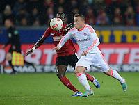 FUSSBALL   1. BUNDESLIGA   SAISON 2012/2013  15. SPIELTAG     SC Freiburg - FC Bayern Muenchen      28.11.2012 Xherdan Shaqiri (re, FC Bayern Muenchen) von  Fallou Diagne  (SC Freiburg) nicht zu halten