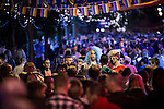 "© Joel Goodman - 07973 332324 . 22/08/2014 .  Manchester , UK . Two drag queens amongst the crowd on Canal Street . Manchester Pride "" Big Weekend "" in Manchester's "" Gay Village "" today ( 22nd August 2014 ) . Photo credit : Joel Goodman"