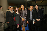 Andrea Valencia, Eli Sachs, Prof. Nadine Johnson, Diego Lopez, and Rui Nong Feng attend reception after the John Jay Justice Award ceremony, April 5 2011.