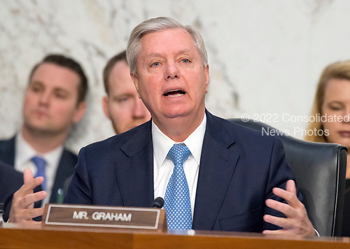 United States Senator Lindsey Graham (Republican of South Carolina) questions Judge Neil Gorsuch as he testifies before the United States Senate Judiciary Committee on his nomination as Associate Justice of the US Supreme Court to replace the late Justice Antonin Scalia on Capitol Hill in Washington, DC on Tuesday, March 21, 2017.<br /> Credit: Ron Sachs / CNP