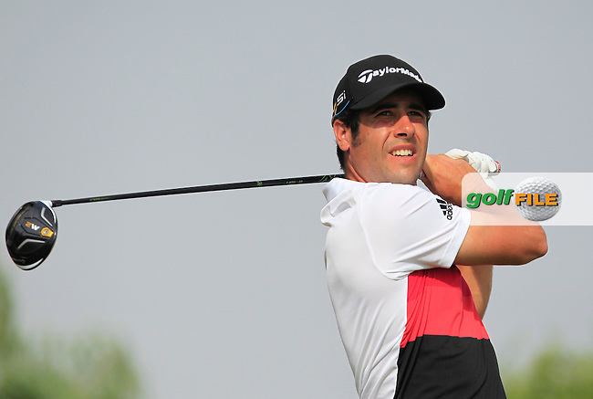 Adrian Otaegui (ESP) on the 6th tee during Round 4 of the Abu Dhabi HSBC Championship on Sunday 22nd January 2017.<br /> Picture:  Thos Caffrey / Golffile<br /> <br /> All photo usage must carry mandatory copyright credit     (&copy; Golffile | Thos Caffrey)