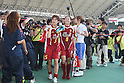 (L to R) Yukari Kinga, Homare Sawa (Leonessa), JULY 24, 2011 - Football / Soccer : 2011 Plenus Nadeshiko LEAGUE 1st Sec match between INAC Kobe Leonessa 2-0 JEF United Ichihara-Chiba Ladies at Home's Stadium Kobe in Hyogo, Japan. (Photo by Akihiro Sugimoto/AFLO SPORT) [1080]