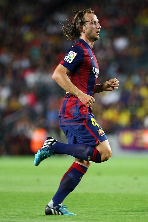 49e Trofeu Joan Gamper.<br /> FC Barcelona vs Club Leon FC: 6-0.<br /> Rakitic.