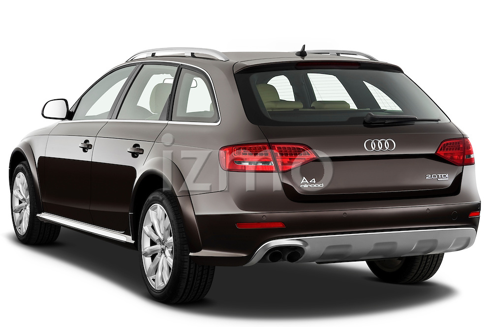 Rear three quarter view of a 2011 Audi A4 Allroad Quattro 2.0l TDI 5 Door Wagon