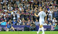 Leeds United fans watch on<br /> <br /> Photographer Alex Dodd/CameraSport<br /> <br /> The Carabao Cup Second Round- Leeds United v Stoke City - Tuesday 27th August 2019  - Elland Road - Leeds<br />  <br /> World Copyright © 2019 CameraSport. All rights reserved. 43 Linden Ave. Countesthorpe. Leicester. England. LE8 5PG - Tel: +44 (0) 116 277 4147 - admin@camerasport.com - www.camerasport.com