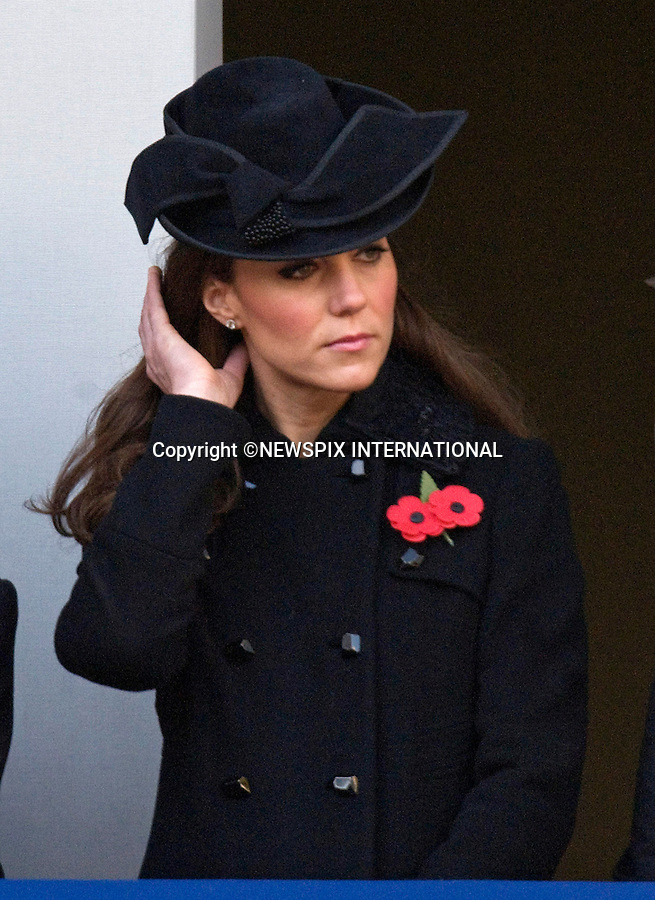 "CATHERINE, DUCHESS OF CAMBRIDGE TO ATTENDS 1ST REMEMBRANCE SERVICE.Kate's attended her 1st Remembrance Service with members of the Royal Family at the Cenotaph, London_13th November 2011.©FRANCIS DIAS - NEWSPIX INTERNATIONAL..Mandatory credit photo:NEWSPIX INTERNATIONAL(Failure to credit will incur a surcharge of 100% of reproduction fees)..**ALL FEES PAYABLE TO: ""NEWSPIX  INTERNATIONAL""**..Newspix International, 31 Chinnery Hill, Bishop's Stortford, ENGLAND CM23 3PS.Tel:+441279 324672.Fax: +441279656877.Mobile:  07775681153.e-mail: info@newspixinternational.co.uk"