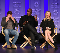 "HOLLYWOOD, CA - MARCH 17: Scott Grimes, Peter Macon and Halston Sage at the PaleyFest 2018 - ""The Orville"" panel at the Dolby Theatre on March 17, 2018 in Hollywood, California. (Photo by Scott Kirkland/Fox/PictureGroup)"