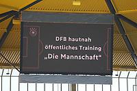 Anzeigetafel - 05.06.2019: Öffentliches Training der Deutschen Nationalmannschaft DFB hautnah in Aachen