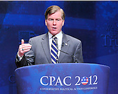 Governor Bob McDonnell (Republican of Virginia) makes remarks at the 2012 CPAC Conference at the Marriott Wardman Park Hotel in Washington, D.C. on Friday, February 10, 2012..Credit: Ron Sachs / CNP