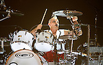 UNIVERSAL CITY, CA. - July 22: Drummer Adrian Young  of No Doubt performs at the Gibson Amphitheatre on July 22, 2009 in Universal City, California.