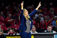 College Park, MD - March 23, 2019: Maryland Terrapins head coach Brenda Frese calls a play during first round action of game between Radford and Maryland at Xfinity Center in College Park, MD. Maryland defeated Radford 73-51. (Photo by Phil Peters/Media Images International)