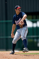 Kyle Farrell #54 of the GCL Braves in action versus the GCL Phillies at Disney's Wide World of Sports Complex, July 13, 2009, in Orlando, Florida.  (Photo by Brian Westerholt / Four Seam Images)