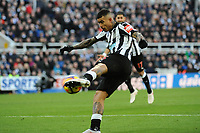 Kenedy of Newcastle United shoots during Newcastle United vs Manchester United, Premier League Football at St. James' Park on 11th February 2018